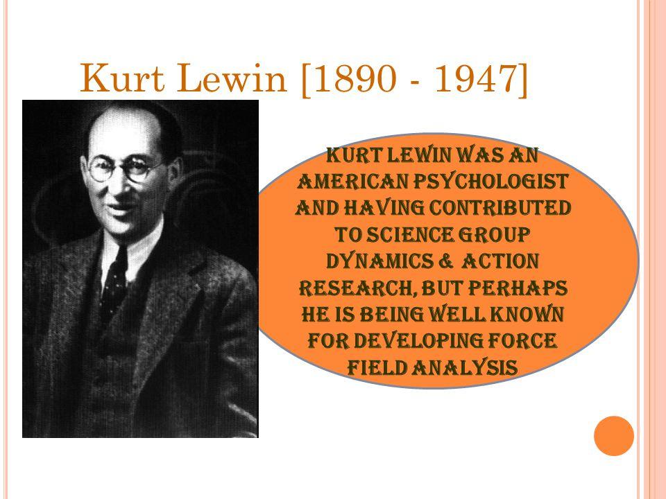 Kurt Lewin [1890 - 1947]